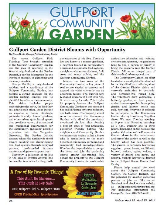 Gabber Articel Garden District